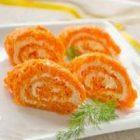 Морковный рулет с творогом